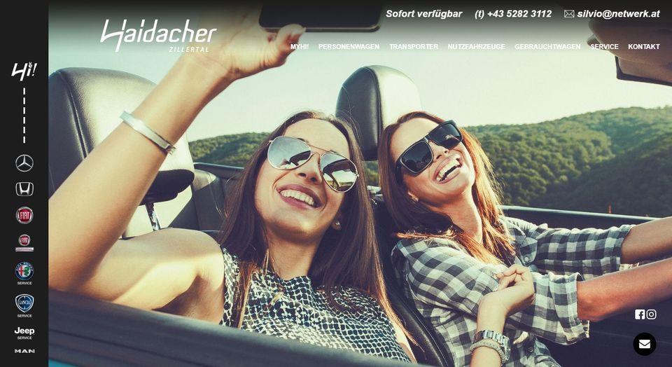 Neue Homepage: Autohaus Haidacher Zillertal